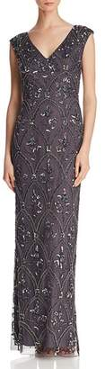 Adrianna Papell Embellished Column Gown