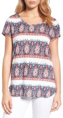 Women's Lucky Brand Bandana Stripe Tee $39.50 thestylecure.com