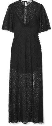 Les Rêveries - Silk-lace Maxi Dress - Black