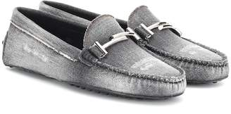Tod's Gommino Double T denim loafers