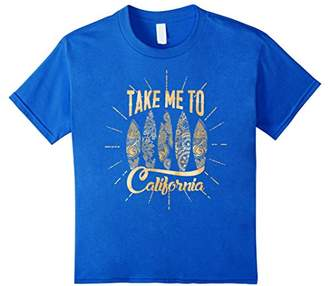 Take Me To Surf Shiny Gold Graphic T-Shirt