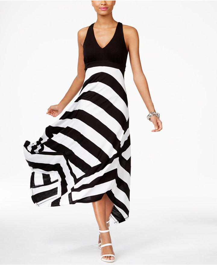 Inc International Concepts Striped Maxi Dress, Only at Macy's
