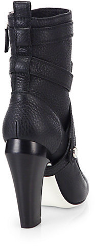 Fendi Diana 105MM Leather Ankle Boots