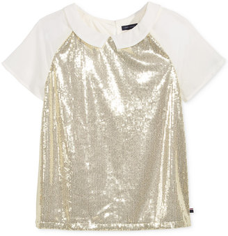 Tommy Hilfiger Sequin T-Shirt, Big Girls (7-16) $42.50 thestylecure.com