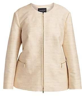 Lafayette 148 New York Lafayette 148 New York, Plus Size Women's Kerrington Silk Jacket