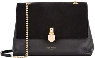 Ted Baker Suede Hermiaa Padlock Shoulder Bag