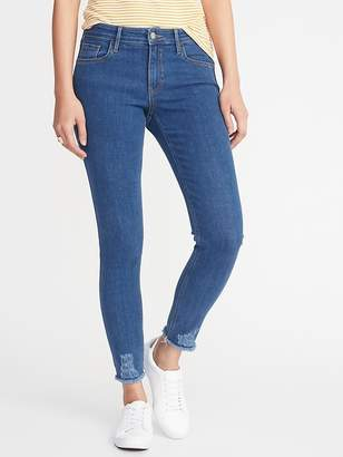 Old Navy Mid-Rise Rockstar Super Skinny Raw-Edge Jeans for Women