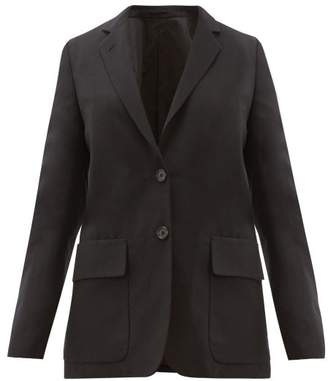 Margaret Howell Single Breasted Wool Blend Blazer - Womens - Navy