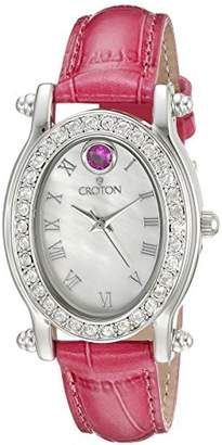 Croton Women's CN207537ROMP Balliamo July Birthstone Analog Display Quartz Pink Watch