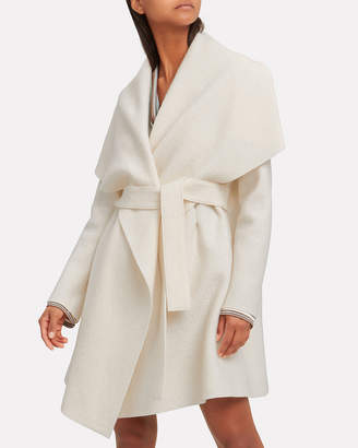 Harris Wharf London Ivory Blanket Belted Coat