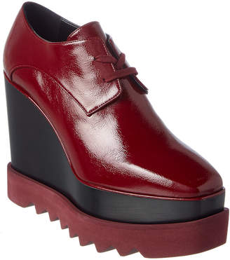 Stella McCartney Patent Platform Oxford Wedge