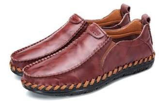 Meigar Causal Vintage Mens Loafers Moccasins Breathable Driving Flat Slip-on Shoes
