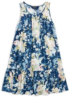 Polo Ralph Lauren Girls' Floral Drop-Waist Dress - Big Kid