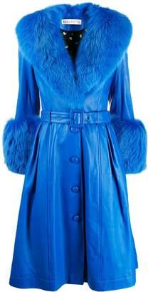 Saks Potts Foxy single-breasted coat