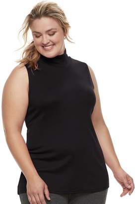 Croft & Barrow Plus Size Sleeveless Mock Neck Top