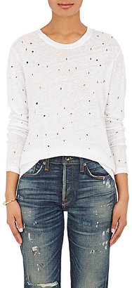 IRO Women's Marvina Distressed Linen T-Shirt $160 thestylecure.com