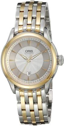 Oris Women's 'Artelier' Swiss Automatic Stainless Steel Dress Watch, Color:Two Tone (Model: 56176044351MB)