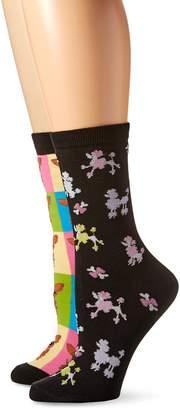 K. Bell Socks Women's Crew Socks 2-Pack