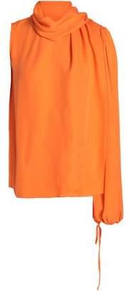 Emilio Pucci One-Shoulder Silk Blouse