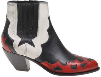 Golden Goose Sunset Flowers Leather Ankle Boot