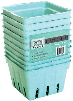 BCI Crafts Berry Basket 10/PkgTeal