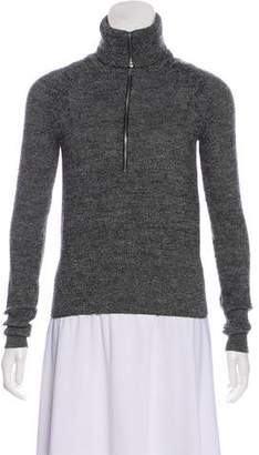 Isabel Marant Wool-Blend Zip-Up Cardigan