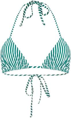 Roseanna striped bikini top
