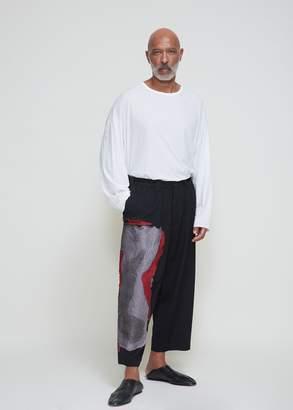 Yohji Yamamoto Embroidered Pant
