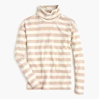 J.Crew Deck-striped turtleneck T-shirt