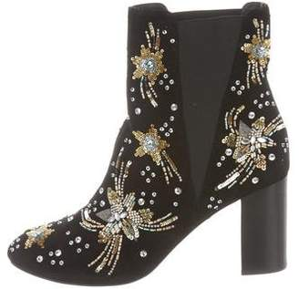 Rebecca Minkoff Embellished Round-Toe Ankle Boots