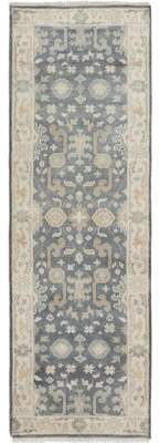 Bloomsbury Market One-of-a-Kind Li Hand Knotted Runner Wool Dark Gray Area Rug