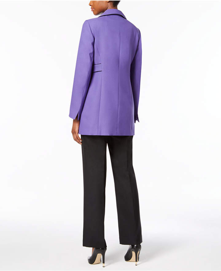 Le Suit Crepe Three-Button Pantsuit