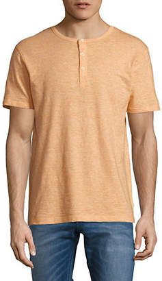MANGUUN Three-Button Placket T-Shirt