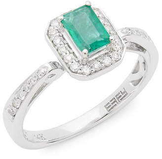 Effy Fine Jewelry 14K, Diamonds & Emerald Ring