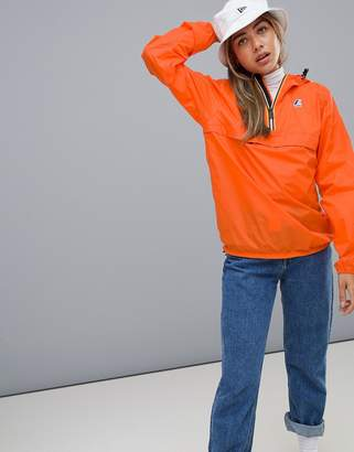 K-Way K Way Le Vrai 3.0 Leon waterproof pullover jacket in orange