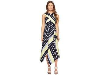 Sportmax Cles Striped Wrapped Sleeveless Dress Women's Dress