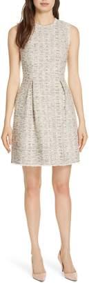 Rebecca Taylor Rainbow Tweed Fit & Flare Dress