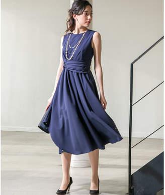 form forma 【結婚式・二次会・パーティー・お呼ばれ対応】ネックレス付 裾変化セミロングワンピース