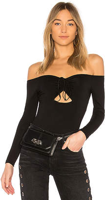 Alexander Wang Off the Shoulder Bodysuit