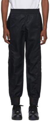 Helmut Lang Black Snap Track Pants