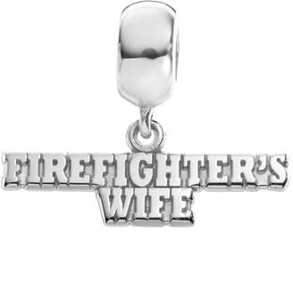 "Insignia Collection Sterling Silver ""Firefighter's Wife"" Charm"