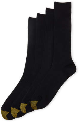 Gold Toe 4-Pack Moisture-Wicking Crew Socks