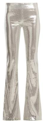 Galvan - Galaxy Sequin Flared Trousers - Womens - Silver