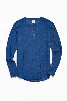 Urban Outfitters Steele Waffle Long Sleeve Henley Tee