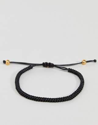 Mister core bracelet in black & gold