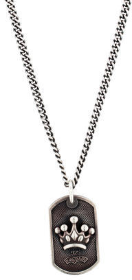 King Baby Studio Crown Dog Tag Pendant Necklace $375 thestylecure.com