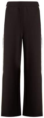 Charli Cohen - Trackpant 2s Contrast Stripe Wide Leg Track Pants - Womens - Black