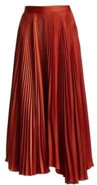 A.L.C. (エーエルシー) - A.L.C. A.L.C. Women's Bobby Pleated Midi Skirt - Terracotta - Size 4