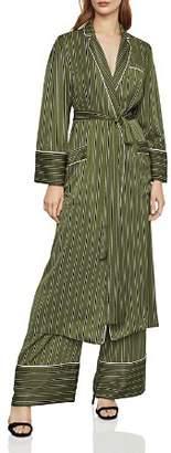 BCBGMAXAZRIA Striped Satin Robe Jacket
