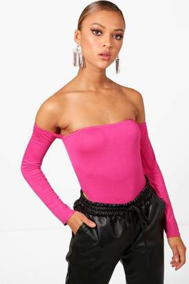 boohoo Lucy High Rise Off The Shoulder Body